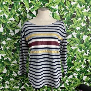 J Crew Foil Striped T-Shirt